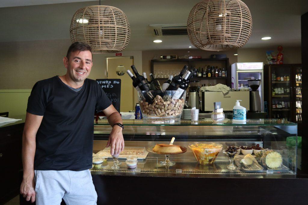 Michel Duarte no seu Restaurante Paris
